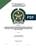 Proyecto Mantenimiento Estacion San Benito 2019