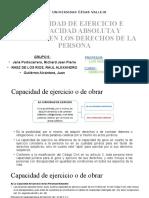 CAPACIDAD DE EJERCICIO E INCAPACIDAD ABSOLUTA Y RELATIVA EN LOS DERECHOS DE LAS PERSONAS - GRUPO 5