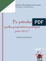 Colloque Pic pétrolier(25-01-2011) à l'Assemblée Nationale