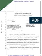 Carten v, Hartford Life & Accident Ins. Co. ERISA MSJ