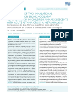 COMPARISON OF TWO INHALATIONAL TECHNIQUES FOR BRONCHODILATOR ADMINISTRATION IN CHILDREN AND ADOLESCENTS WITH ACUTE ASTHMA CRISIS-A META-ANALYSIS