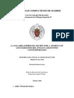 La Palabra Imprecisa de Héctor a. Murena en Los Márgenes Del Ensayo Argentino Contemporáneo