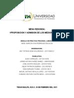 Mesa Redonda - Proposicion y Admision de Los Medios de Prueba