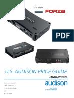 2020 Audison Price Sheet