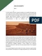 Indicios de Vida en Marte