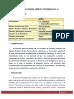 SYLABUS DEL CURSO DE DERECHO PROCESAL PENAL II 2020