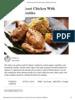 Spatchcock Roast Chicken With Seasonal Vegetables _ Taste Show
