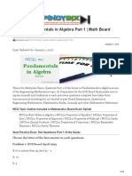Pinoybix.org-MCQ in Fundamentals in Algebra Part 1 Math Board Exam