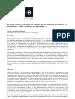 El nuevo marco normativo en Gestión de documentos de archivo, lasnormas ISO  UNE Guía para profesionales (1).
