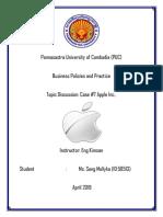 Case 7 Apple Inc Final Report_Seng Mollyka_ID_58513