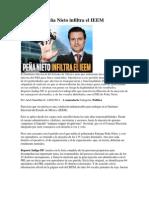 Peña Nieto infiltra el IEEM