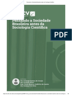 Pensando a Sociedade Brasileira antes da Sociologia Científica