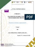 Unidad 5-Analisis Financiero y Estados Financieros Del Proyecto.