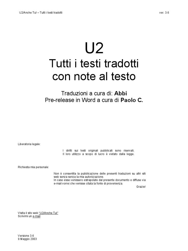 Testi U2 1980-2000