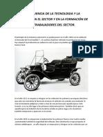 La Evolucion en El Sector y en La Formación de Los Trabajadores Del Sector