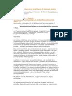 Aproximacion psicologica en la rehabilitacion del lesionado medular