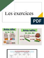 Les exercices -  les articles