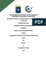 TAREA - ESPECIFICACIONES DE CALIDAD
