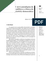 BEHN, Robert D. O Novo Paradigma Da Gestão Pública e a Busca Da Accountability Democrática