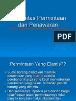 Elastisitas Permintaan Dan Penawaran(1)