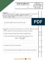 Devoir de Synthèse N°3 - Sciences physiques - 2ème Sciences (2010-2011) Mr Adam Bouali   2