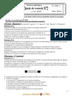 Devoir de Contrôle N°2 - Sciences physiques - 3ème Sciences exp (2010-2011) Mr ALIBI ANOUAR (1)