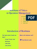 benihana of tokyo in operation management