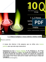 Q.1.1.3. Massa isotópica e massa atómica relativa média