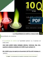 Q.1.1.4. Quantidade de matéria e massa molar