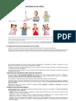 La importancia de las emociones en los niños