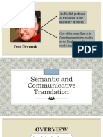 Semantic-and-Communicative-Translation