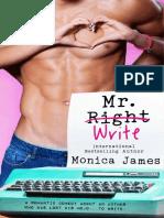 Mr. Write by Monica James