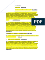 PREGUNTAS DE EXAMENES PARCIALES DE FARMACOLOGÍA 2