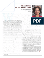 Diversity Journal   It Does Matter How You Play the Game - Mar/Apr 2010