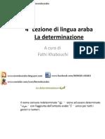 4°Lezione (Corso di arabo)