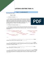 Translation and Editing Task #1