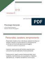 N.13 PERSONALITÀ
