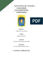 Informe de calibración de arena ottawa