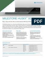 6-2 Milestone Husky X2 Specification Sheet