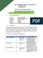 PLANIFICACION SEMANAL DE ACTIVIDADES DE APRENDIZAJE semana 30