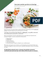 Principais Alimentos Para Perder Gordura Na Barriga