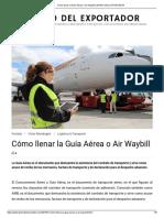 Cómo llenar la Guía Aérea o Air Waybill _ DIARIO DEL EXPORTADOR