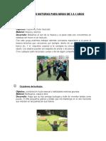ACTIVIDADES MOTORAS DE 3 A 5 AÑOS - TRABAJO GRUPAL