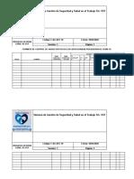 Formato de Control de Temperatura y Sintomatologia Covid 19