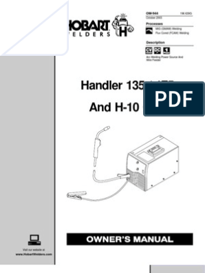 Handler 135 / 175 and H-10 Gun Owner's Manual | Welding ... on