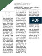 Jornal MENSAGEIRO PACIFICADOR Jesus e Nicodemos N° 1