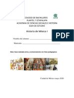 Guía de estudio Historia de México I