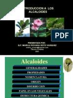 ALCALOIDES por Q.F. Marilú  Roxana Soto Vásquez