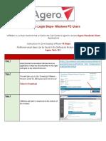 VMWare Initial Login Service Aid Agero- Windows Users Source Filev3