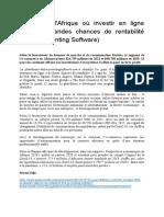 Les Pays d'Afrique Où Investir en Ligne Offre de Grandes Chances de Rentabilité (Best Accounting Software)